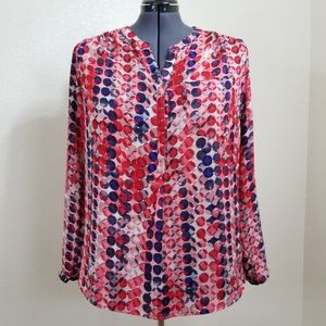 Liz Claibourne V-Neck Button Down Blouse Size 1X